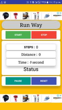 New distance counter app (Run Way) screenshot 1