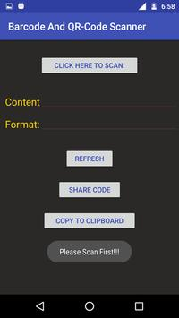 Barcode and QR-Code Scanner apk screenshot