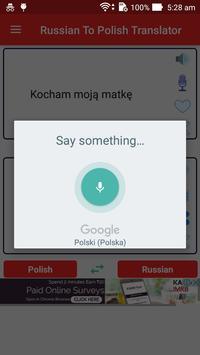 Russian Polish Translator apk screenshot