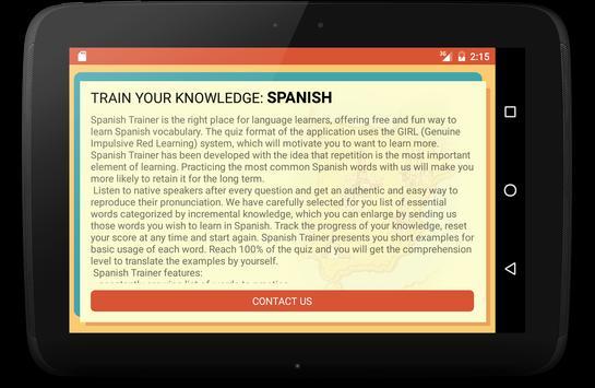 Spanish Trainer screenshot 10