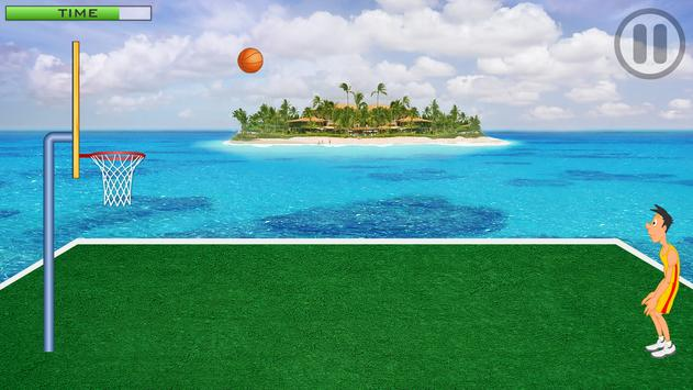 Basketball Island | Basic BasketBall Throw Game apk screenshot