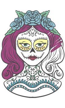 sugar skulls coloring book apk screenshot - Sugar Skull Coloring Book