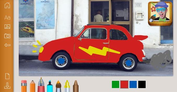 Paint drawings on photos apk screenshot