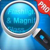 Magnifying Glass + Flashlight icon