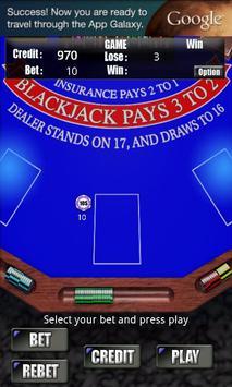 RVG BlackJack Free apk screenshot
