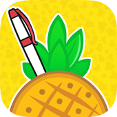 Shoot a Pineapple Apple Pen icon