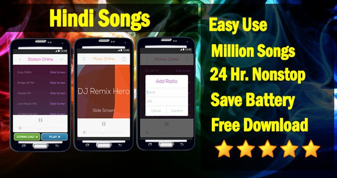 Hindi Songs - Bollywood Radio apk screenshot