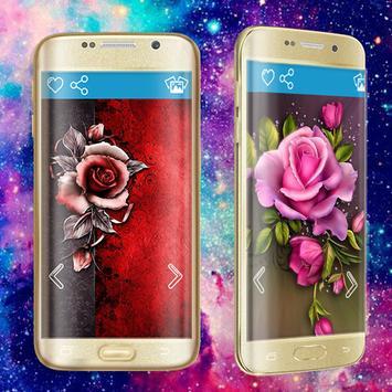Pink Rose Diamond Thème - Rose Wallpapers apk screenshot