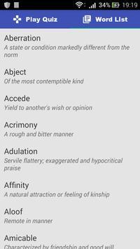 SAT Vocabulary apk screenshot