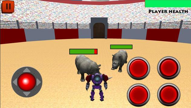 Robot VS Angry Bull 3D screenshot 1