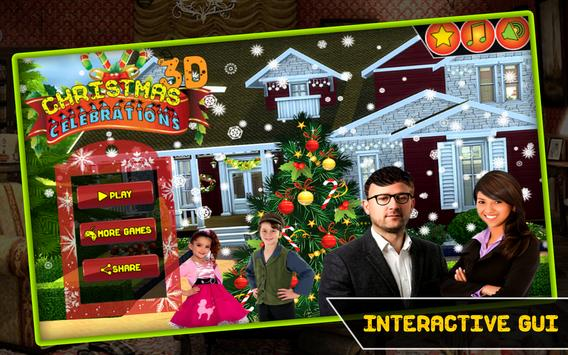 Christmas Celebrations 3D Game poster