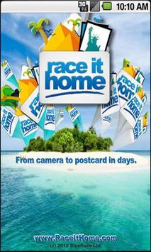 Race It Home - Send Postcards poster