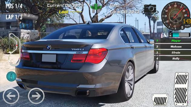 Real Bmw 750Li Racing 2018 screenshot 1