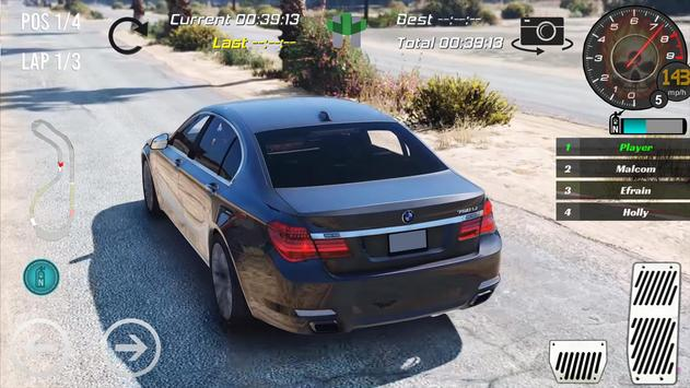 Real Bmw 750Li Racing 2018 screenshot 2