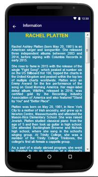 Rachel Platten - Song And Lyrics apk screenshot