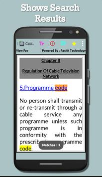 Cable Television Network Act apk screenshot