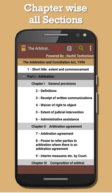 India The Arbitration And Conciliation Act 1996 For Android Apk