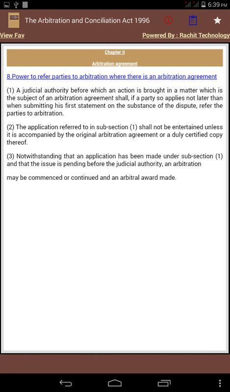 India The Arbitration And Conciliation Act 1996 Apk Download