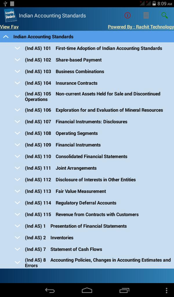 Indian Accounting Standards for Android - APK Download