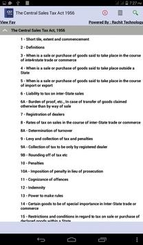 The Central Sales Tax Act 1956 apk screenshot