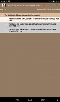 The Building And Other Construction Workers Act apk screenshot