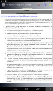 The Disaster Management Act, 2005 apk screenshot