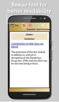 India - The Drugs and Cosmetics Act, 1940 apk screenshot