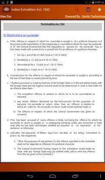 Indian Extradition Act 1962 apk screenshot