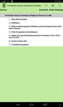 The Muslim Women Act 1986 apk screenshot