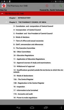 The Pharmacy Act 1948 apk screenshot