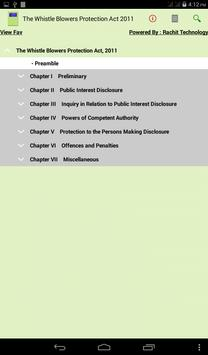 Whistle Blowers Protection Act poster