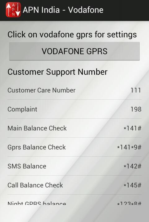 APN India - Vodafone for Android - APK Download