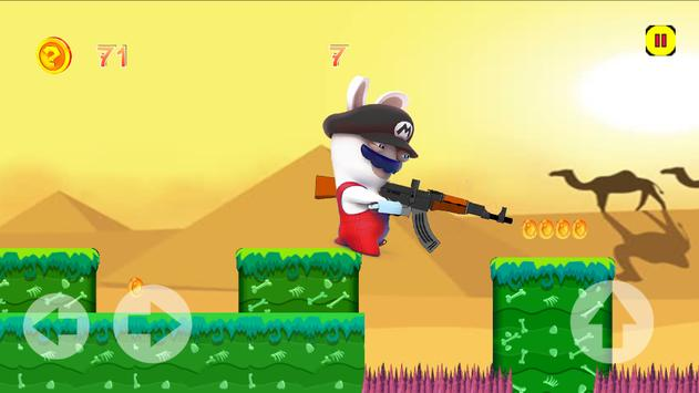 Rabbids adventure  jump in zombie city poster