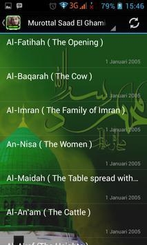 Murottal Saad El Ghamidi apk screenshot
