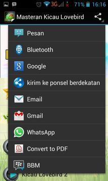 Masteran Kicau Lovebird screenshot 1