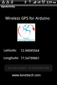Wireless Gps for Arduino screenshot 1