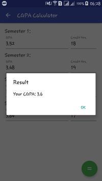 BZU CGPA Calculator apk screenshot