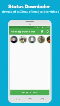 Latest Status Story&Videos Downloader for Whatsapp poster