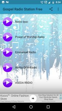 Gospel Radio Station Free poster