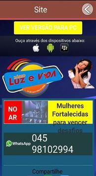 Rádio Luz e Vida - Tá na Luz e Vida Tá Legal! apk screenshot