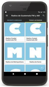Poster Radios Guatemala en Vivo FM AM - Emisoras de Radio