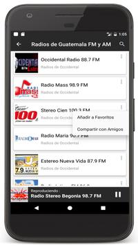 22 Schermata Radios Guatemala en Vivo FM AM - Emisoras de Radio