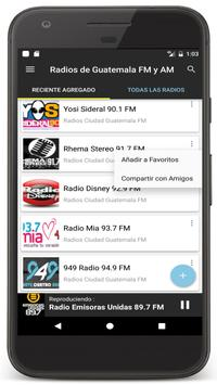 Radios Guatemala en Vivo FM AM - Emisoras de Radio Ekran Görüntüsü 2
