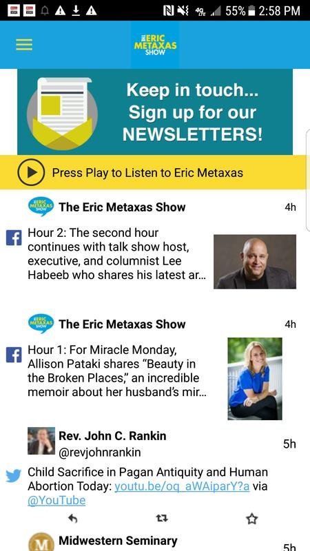 eric metaxas show - the show about everything