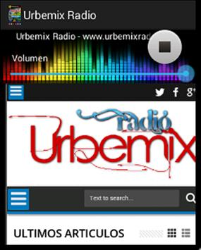 Urbemix Radio poster