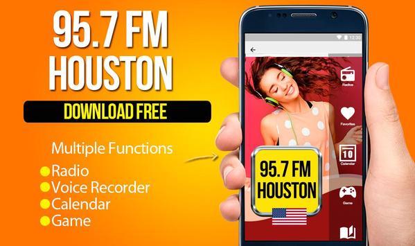 95.7 Radio Station Houston free radio player poster