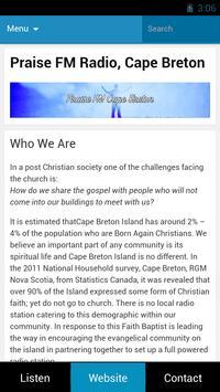 Praise FM Cape Breton screenshot 1