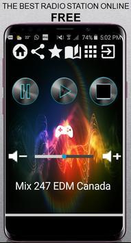 Mix 247 EDM Canada CA App Radio Free Listen Online poster