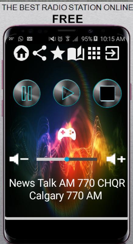 News Talk AM 770 CHQR Calgary CA App Radio Poster