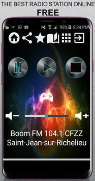 Boom FM 104.1 CFZZ Saint-Jean-sur-Richelieu 104.1 poster
